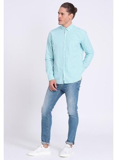 Lufian Kareli Slim Fit Uzun Kollu Gömlek Yeşil